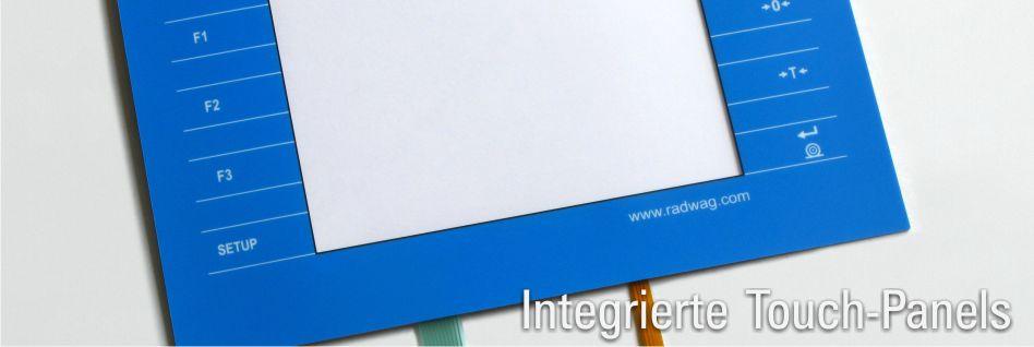 integrierte touch panels
